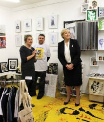 Minister for Arts Heather Humphreys Visits us on Dublin Culture Night 2015