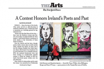 THE NEW YORK TIMES - A Contest Honors Ireland's Poets and Past