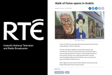 RTE - The Icon Art Walk, featuring images of Bono, Seamus Heaney and Oscar Wilde, opened yesterday in Dublin's Temple Bar