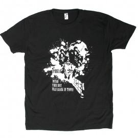 Phil Lynott Wish The Boy Was Back In Town Black T-shirt