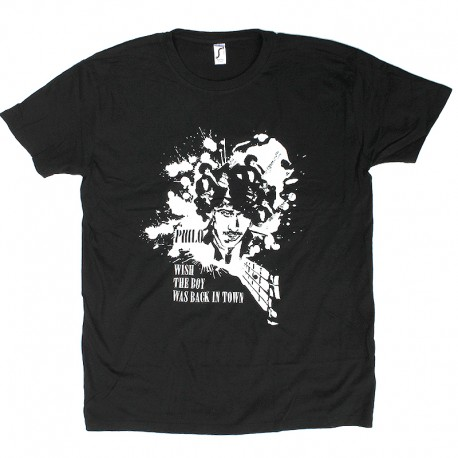 Phil Lynott The Icon Walk The Icon Factory Wish The Boy Was Back In Town Black Tshirt