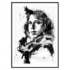 Oscar Wilde Fine Art Print The Icon walk The Icon Factory Dublin