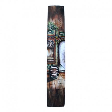 Irena  Kwasniewska Original Acrilic Painting Dublin on a lat from a barrel Icon Factory Icon Walk Dublin