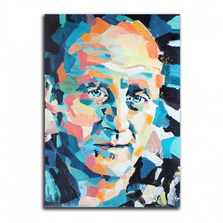 Christy Moore Original Mixed Media Oil Painting Canvas Aga Szot Icon Factory Icon Walk Dublin