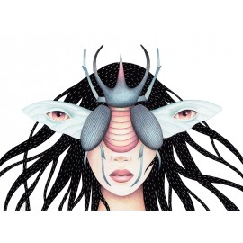 """Beetle woman"" Fine Art Print by Sil Elorduy"