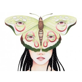 """Butterfly woman"" Fine Art Print by Sil Elorduy"