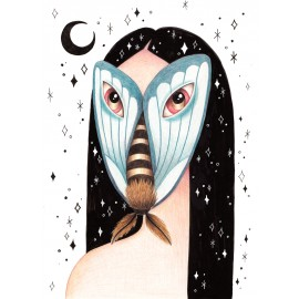 """Mothwoman"" Fine Art Print by Sil Elorduy"