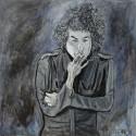'His Bobness' by Seán Lennon Oils on canvas