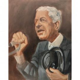'Leonard Cohen' by Seán Lennon Oils on canvas