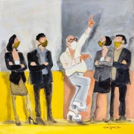 'Untitled' by Seán Lennon Acrylics on canvas