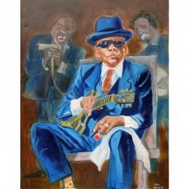 'John Lee Hooker' by Seán Lennon Oils on canvas