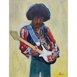 'Jimi Hendrix' by Seán Lennon Oils on canvas
