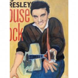 'Elvis the Pelvis' by Seán Lennon Oils on canvas