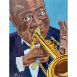 'Louis Armstrong' by Seán Lennon Oils on canvas