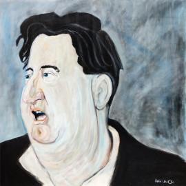 'Brendan Behan' by Seán Lennon Oils on canvas
