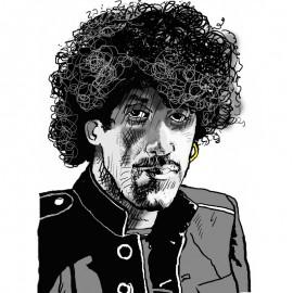 'Phil Lynott'  Framed Limited edition print by Seán Lennon