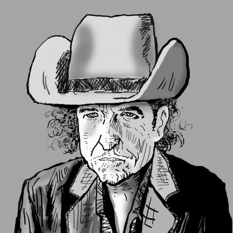 'Bob in ten gallon hat' Framed Limited Edition Print by Seán Lennon