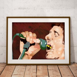 SHANE MACGOWAN (Singing) - A3 POSTER
